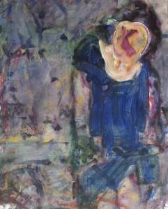 Meisje - Acryl op papier - 75x87