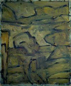 Ger Meinema - Landschap - Acryl op karton
