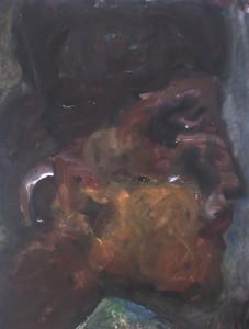 En profile - Acryl op papier - 75x87