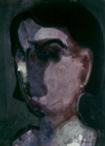 Ger Meinema - Beelden kunstenaar - Het lichtpuntje - Acryl op papier - 75x87