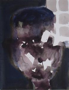 Ger Meinema - Kop - Acryl-op-papier