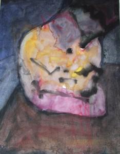 Spelend kind - Acryl op papier - 75x87