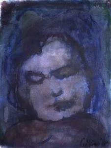 Dood kind - Acryl op papier - 75x87