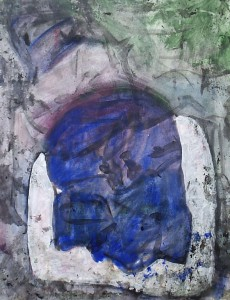 Hoofd - Acryl op papier - 75x87