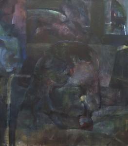 Donker profiel - Acryl op doek - 80x90