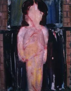 Ger Meinema - Beelden kunstenaar - Meisje - Acryl op papier - 75x87