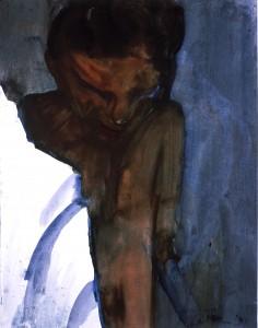 Ger Meinema - Beelden kunstenaar - Lamp - Acryl op papier - 75x87