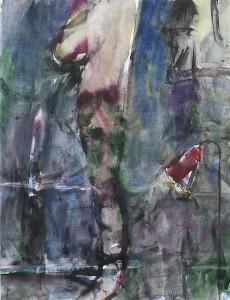 Een voldaan gevoel - Acryl op papier - 75x87
