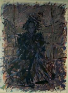 Ger Meinema - Samurai - Acryl op karton