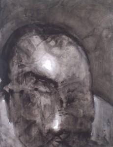 Kop nr.3 - Acryl op papier - 75x87