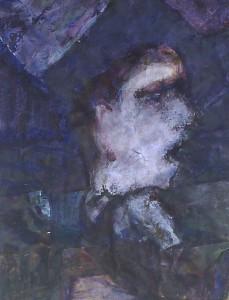 Huilend kind - Acryl op papier - 75x87