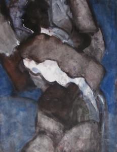 Schilderij - Acryl op papier - 75x87