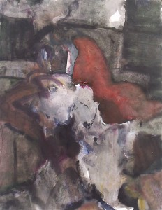 z.t. - Acryl op papier - 75x87