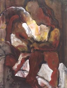z.t. nr.2 - Acryl op papier - 75x87