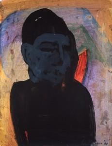 Ger Meinema - Beeldend kunstenaar - Japans silhouet - Acryl op papier - 75x87