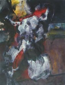 Paljas - Acryl op paper - 75x87
