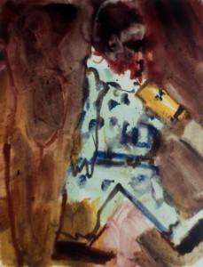 Ger Meinema - Beelden Kunstenaar - Kind met vallende beker- 75x87