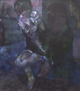 Hollen - Acryl op doek - 80x90