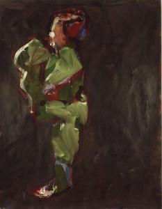 Ger Meinema - Beeldend kunstenaar - Spelend kind - Acryl op papier - 75x87