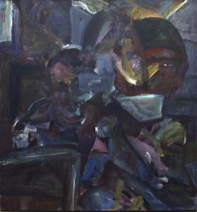 Het kopje - Acryl op doek - 75x80
